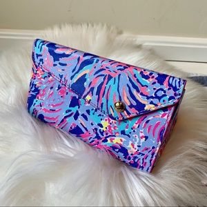 Lilly Pulitzer floral collapsible sunglasses case